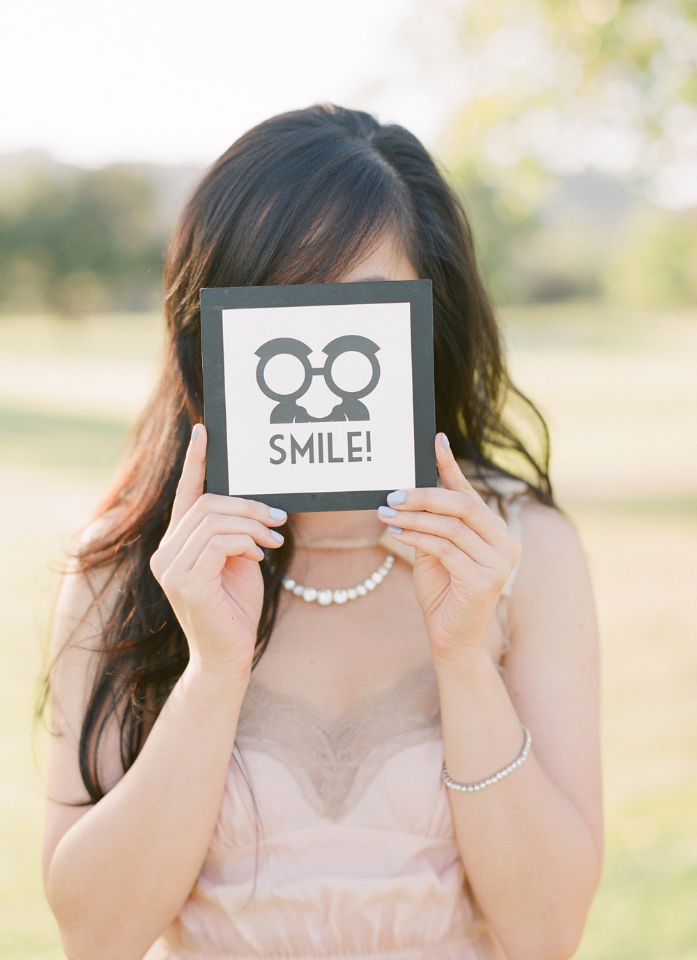 SMILE! Sign Used for Party Prop