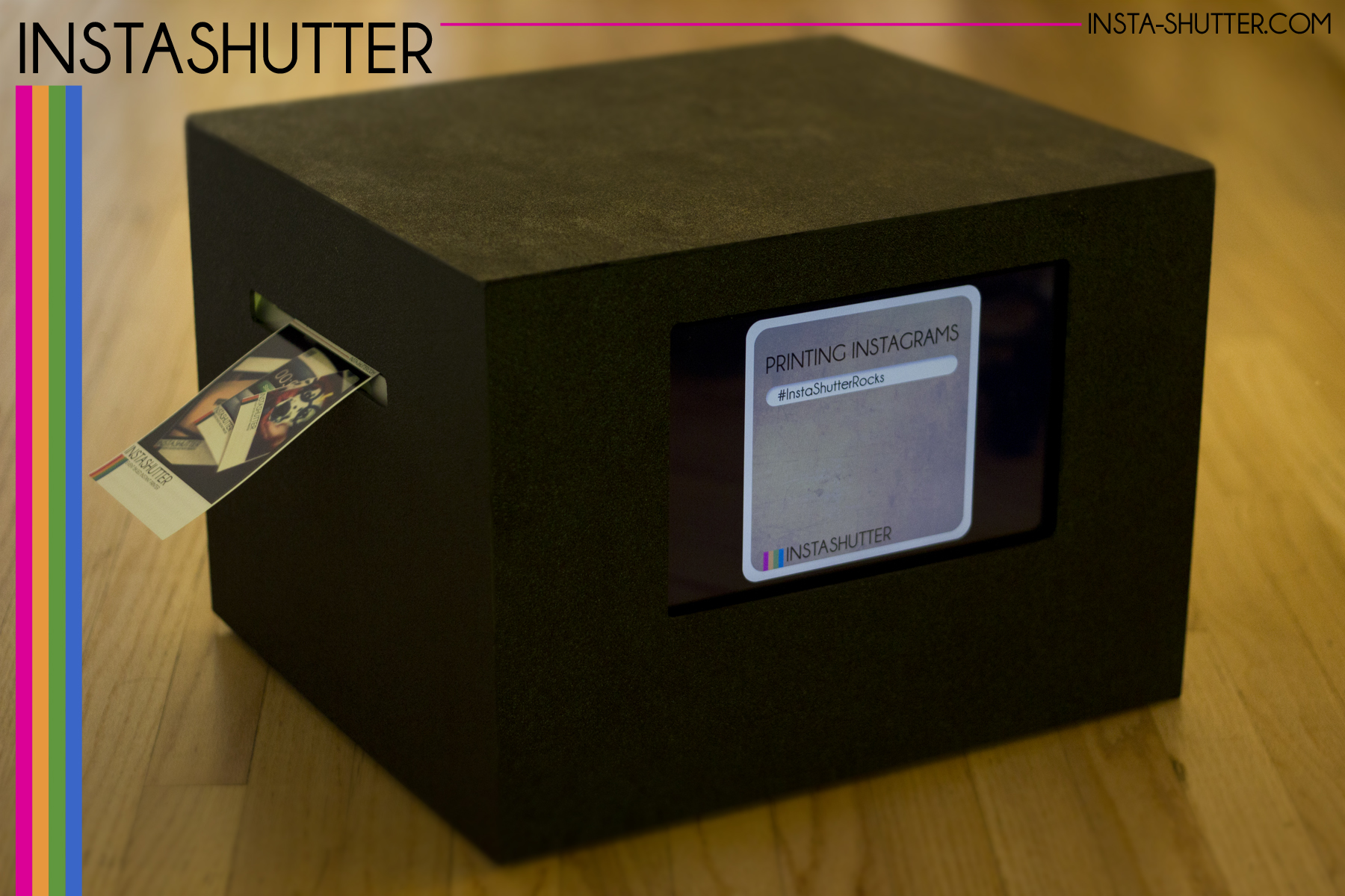 Insta-Shutter Cube | 4G Connection Prints Instagram Photos Instantly