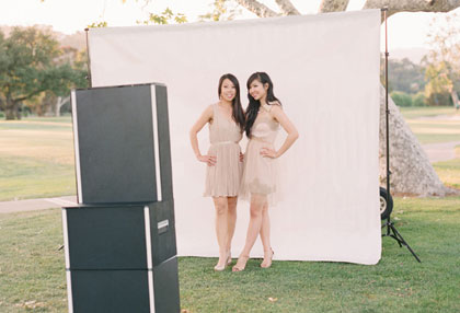 Pose for our Open Photo  Booth in Front of a Custom Backdrop