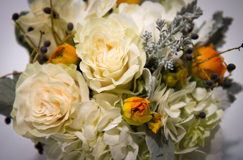 White, Yellow and Gray Flower Bouquet