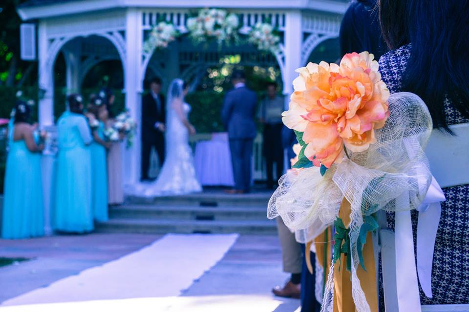 Wedding Ceremony Takes Place Under the Gazebo