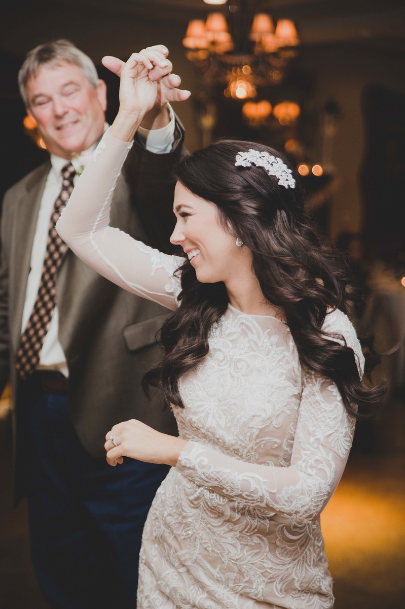 Lindsey Twirls With Her Dad