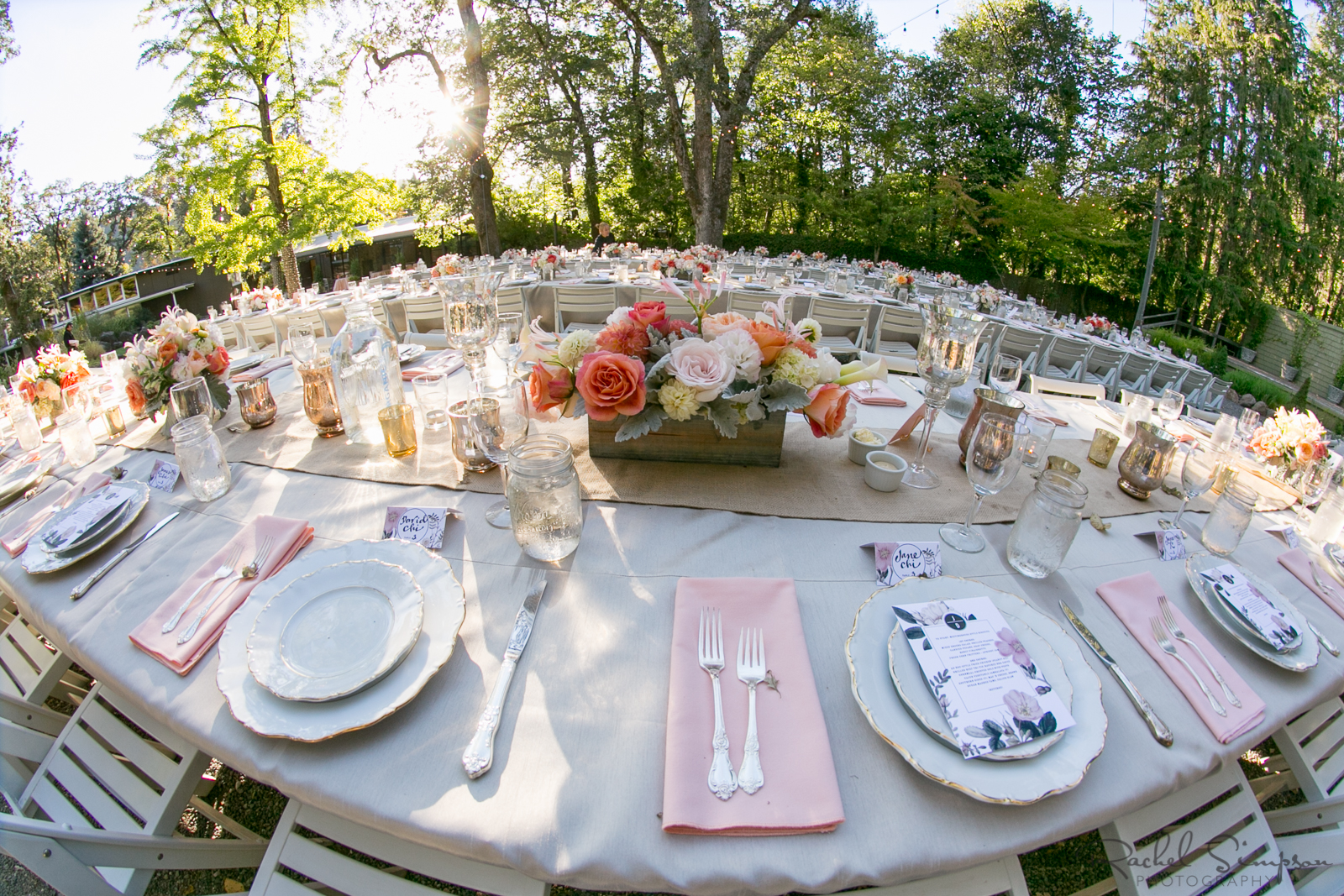 Florals Accent Outdoor Reception Tables
